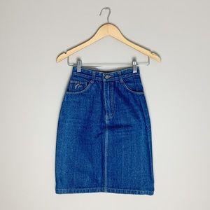 Vintage high waisted Jordache denim pencil skirt
